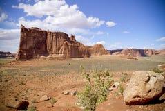沙漠形成岩石 免版税图库摄影