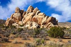 沙漠形成莫哈韦沙漠岩石 免版税库存图片