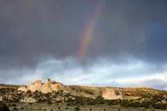 沙漠彩虹 库存图片