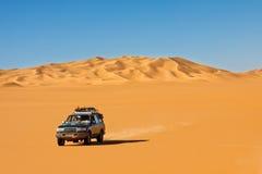 沙漠徒步旅行队撒哈拉大沙漠 免版税库存照片