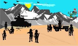 沙漠战争 皇族释放例证