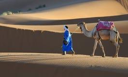 沙漠摩洛哥人场面 免版税库存图片