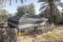 沙漠撒哈拉大沙漠帐篷 库存图片