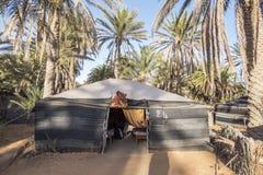 沙漠撒哈拉大沙漠帐篷 图库摄影