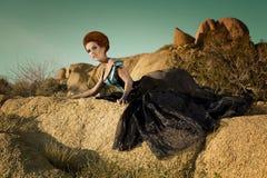 沙漠方式高女王/王后 免版税库存照片