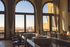沙漠旅馆,阿布扎比 库存照片