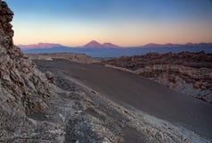 沙漠日落 免版税图库摄影