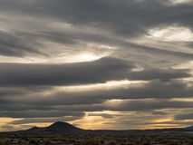 沙漠日落 免版税库存照片