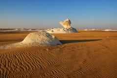 沙漠早晨白色 库存照片