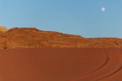 沙漠晚上 库存图片