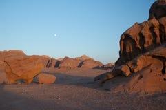 沙漠晚上 图库摄影