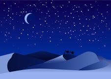 沙漠晚上 免版税库存图片