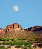 沙漠月亮 库存照片