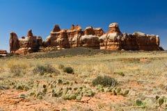 沙漠横向场面 免版税库存照片