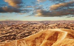 沙漠横向月亮namib 免版税库存图片