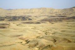 沙漠横向风景 库存图片