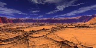 沙漠横向 免版税库存图片
