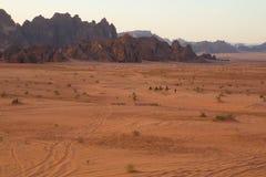 沙漠横穿 图库摄影