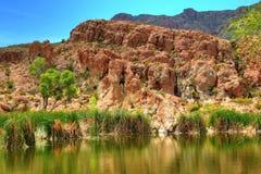 沙漠池塘 免版税库存图片