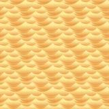 沙漠沙丘挥动无缝的传染媒介纹理或样式 库存图片