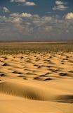 沙漠沙丘撒哈拉大沙漠天空 免版税库存图片