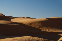 沙漠沙丘撒哈拉大沙漠沙子天空 库存照片