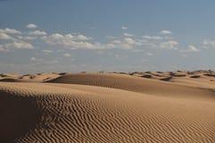 沙漠沙丘撒哈拉大沙漠沙子天空 图库摄影