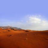 沙漠沙丘横向沙子 图库摄影