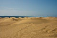 沙漠沙丘沙子海运通知 库存图片