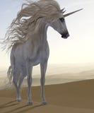 沙漠沙丘独角兽 免版税库存照片