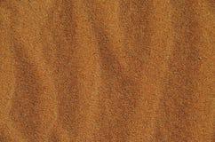 沙漠沙子背景在一个晴天 图库摄影