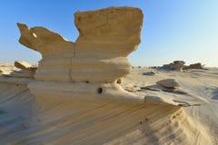 沙漠沙子雕塑 免版税库存图片