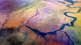 沙漠河天线,幽谷峡谷4K 股票视频