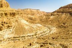 沙漠深峡谷峭壁风景风景视图 库存照片