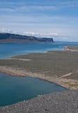沙漠湖横向 库存照片