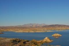 沙漠湖 库存图片