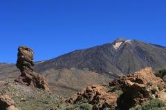 沙漠火山横向的teide 库存图片