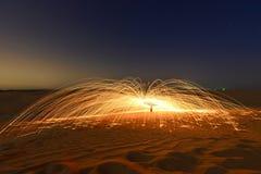 沙漠火火花 免版税库存图片