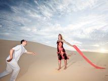 沙漠爱 免版税库存照片