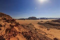 沙漠瓦地伦在约旦 免版税库存照片