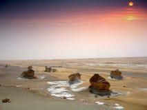 沙漠白色 库存图片