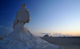 沙漠白色 免版税库存照片