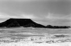 沙漠的山 免版税库存照片