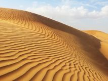 沙漠的沙子 库存照片