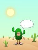 沙漠的仙人掌人 库存图片