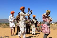 沙漠的Ravanahatha艺术家 免版税库存图片