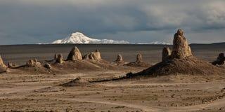 沙漠石峰 库存照片