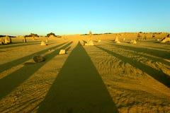 沙漠石峰 免版税库存照片