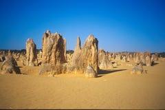 沙漠石峰 免版税库存图片