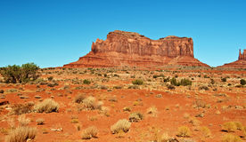 沙漠砂岩风景充满活力的视图 库存照片